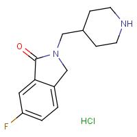 6-Fluoro-2-(piperidin-4-ylmethyl)isoindolin-1-one hydrochloride