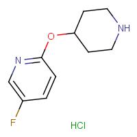 5-Fluoro-2-(piperidin-4-yloxy)pyridine hydrochloride