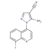 5-Amino-1-(8-fluoroquinolin-4-yl)-1H-pyrazole-4-carbonitrile