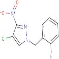 4-Chloro-1-(2-fluorobenzyl)-3-nitro-1H-pyrazole