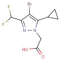 [4-Bromo-5-cyclopropyl-3-(difluoromethyl)-1H-pyrazol-1-yl]acetic acid