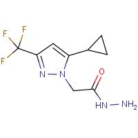 2-[5-Cyclopropyl-3-(trifluoromethyl)-1H-pyrazol-1-yl]acetohydrazide
