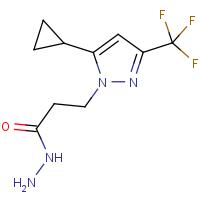 3-[5-Cyclopropyl-3-(trifluoromethyl)-1H-pyrazol-1-yl]propanehydrazide