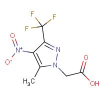 [5-Methyl-4-nitro-3-(trifluoromethyl)-1H-pyrazol-1-yl]acetic acid