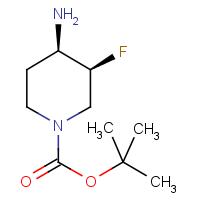 tert-Butyl 3,4-cis-4-amino-3-fluoropiperidine-1-carboxylate racemate