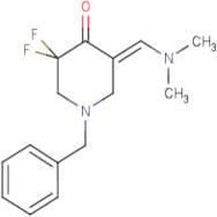 (E)-1-Benzyl-5-((dimethylamino)methylene)-3,3-difluoropiperidin-4-one