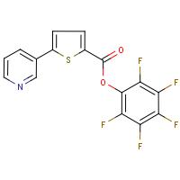 Pentafluorophenyl 5-pyridin-3-ylthiophene-2-carboxylate