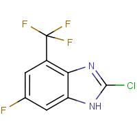 2-Chloro-6-fluoro-4-(trifluoromethyl)-1H-1,3-benzimidazole