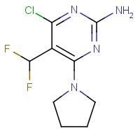 4-Chloro-5-(difluoromethyl)-6-pyrrolidin-1-yl-pyrimidin-2-amine