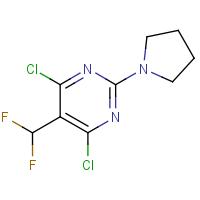 4,6-Dichloro-5-(difluoromethyl)-2-pyrrolidin-1-yl-pyrimidine