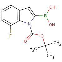 7-Fluoro-1H-indole-2-boronic acid, N-BOC protected