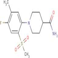 1-[4-Fluoro-5-methyl-2-(methylsulphonyl)phenyl]piperidine-4-carboxamide