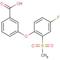 3-[4-Fluoro-2-(methylsulphonyl)phenoxy]benzoic acid