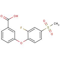 3-[2-Fluoro-4-(methylsulphonyl)phenoxy]benzoic acid
