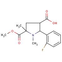 1,5-Dimethyl-2-(2-fluorophenyl)-5-(methoxycarbonyl)pyrrolidine-3-carboxylic acid