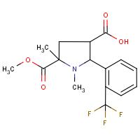 1,5-Dimethyl-5-(methoxycarbonyl)-2-[2-(trifluoromethyl)phenyl]pyrrolidine-3-carboxylic acid