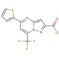 5-(Thien-2-yl)-7-(trifluoromethyl)pyrazolo[1,5-a]pyrimidine-2-carbonyl chloride