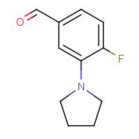 4-Fluoro-3-pyrrolidinobenzaldehyde
