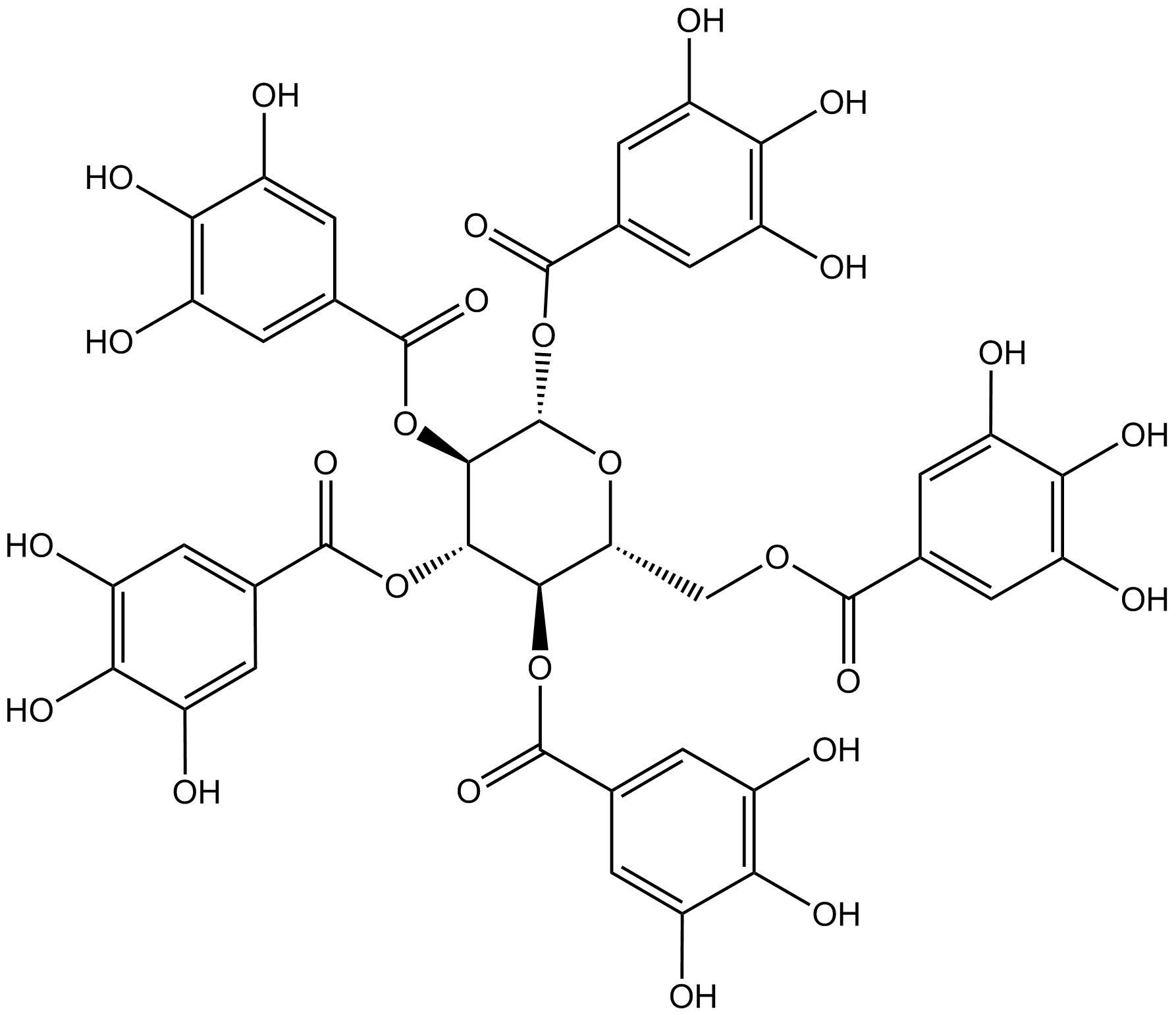 1,2,3,4,6-pentagalloyl -d-glucose