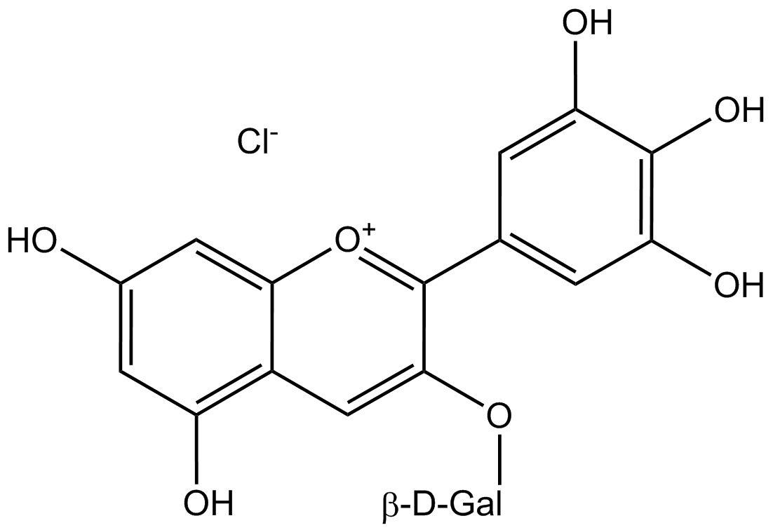 Delphinidin 3-galactoside chloride