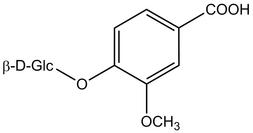 Vanillic acid 4-β-d-glucoside
