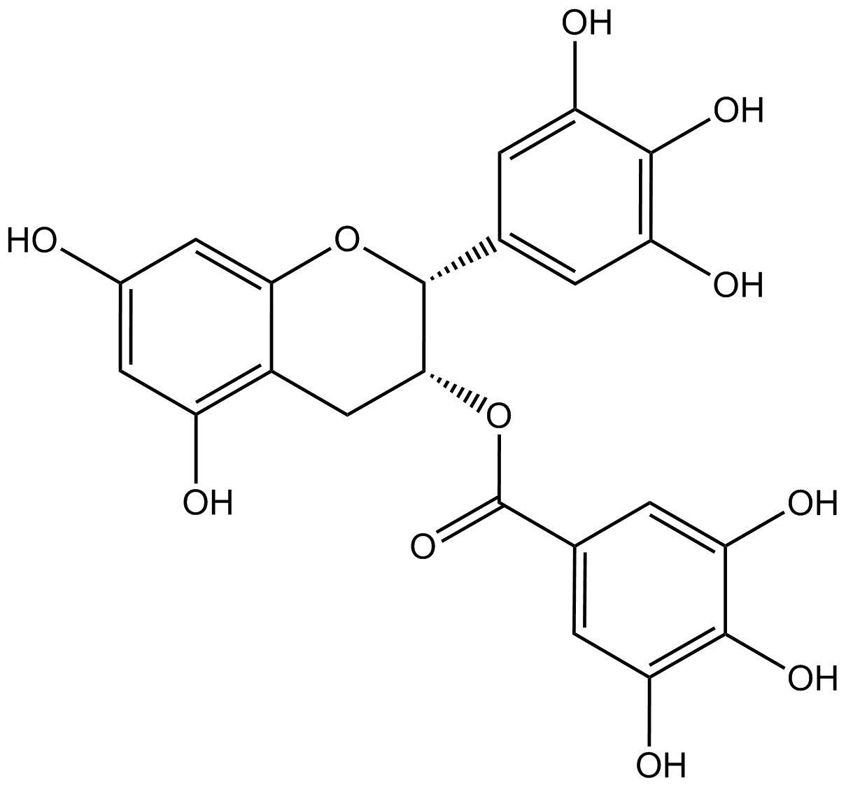 (-)-epigallocatechin 3-gallate