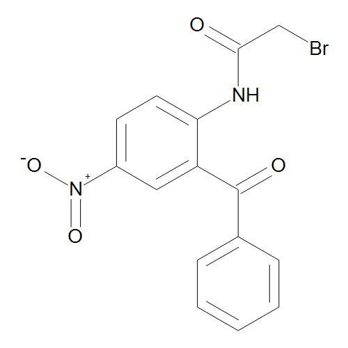 2-Bromo-N-[4-nitro-2-(phenyl-carbonyl)phenyl]acetamide