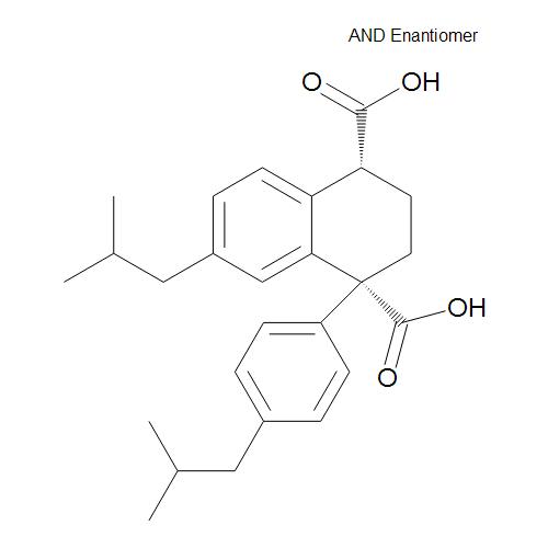 (1RS,4RS)-7-(2-Methylpropyl)-1-[4-(2-methylpropyl)phenyl]-1,2,3,4-tetrahydronaphthalene-1,4-dicarboxylic Acid