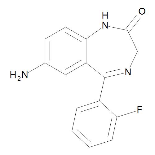 7-Amino-5-(2-fluorophenyl)-1,3-dihydro-2H-1,4-benzodiazepin-2-one (7-Aminodemethylflunitrazepam)