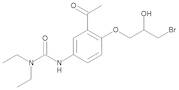 3-[3-Acetyl-4-[(2RS)-3-bromo-2-hydroxypropoxy]phenyl]-1,1-diethylurea (Bromhydrin Compound)