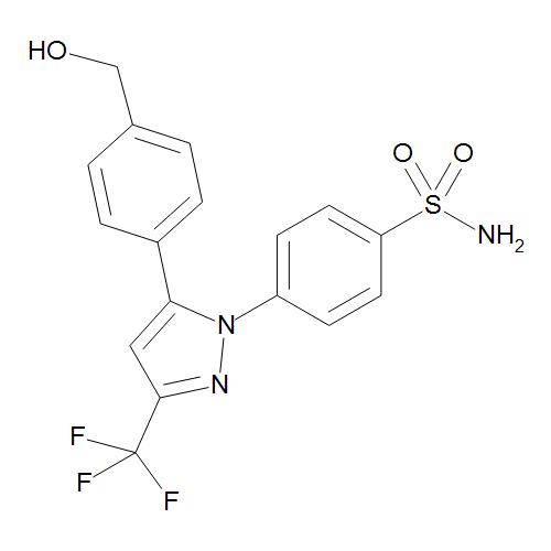 4-[5-[4-(Hydroxymethyl)phenyl]-3-(trifluoromethyl)-1H-pyrazol-1-yl]benzenesulfonamide