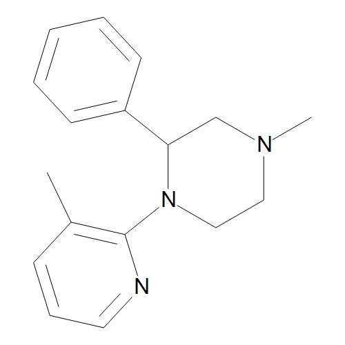 (2RS)-4-Methyl-1-(3-methylpyridin-2-yl)-2-phenylpiperazine