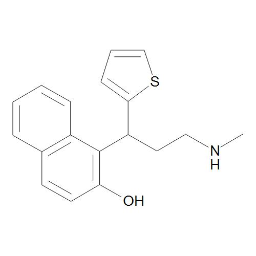 1-[(1RS)-3-(Methylamino)-1-(thiophen-2-yl)propyl]naphthalen-2-ol