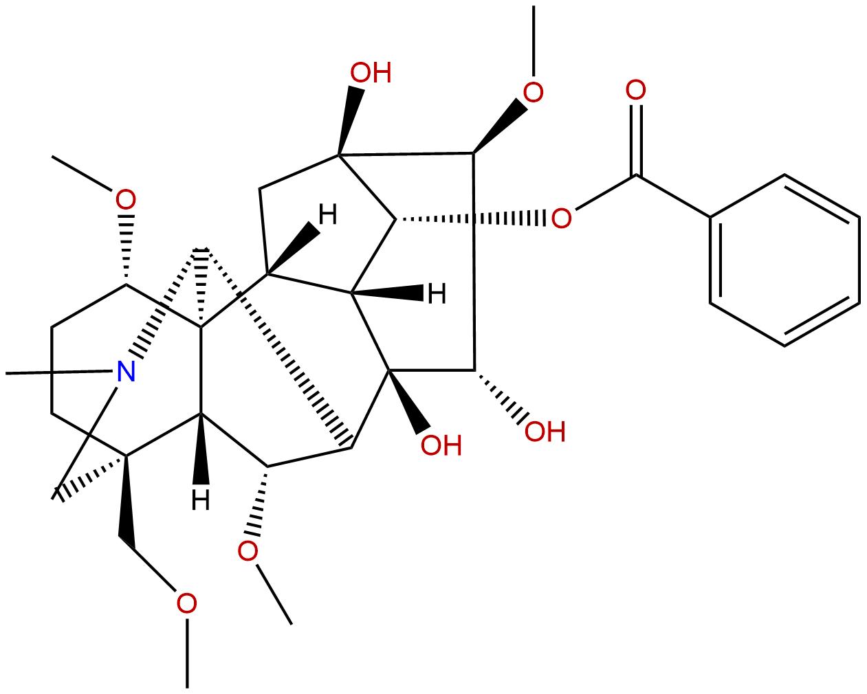 Benzoylhypaconine