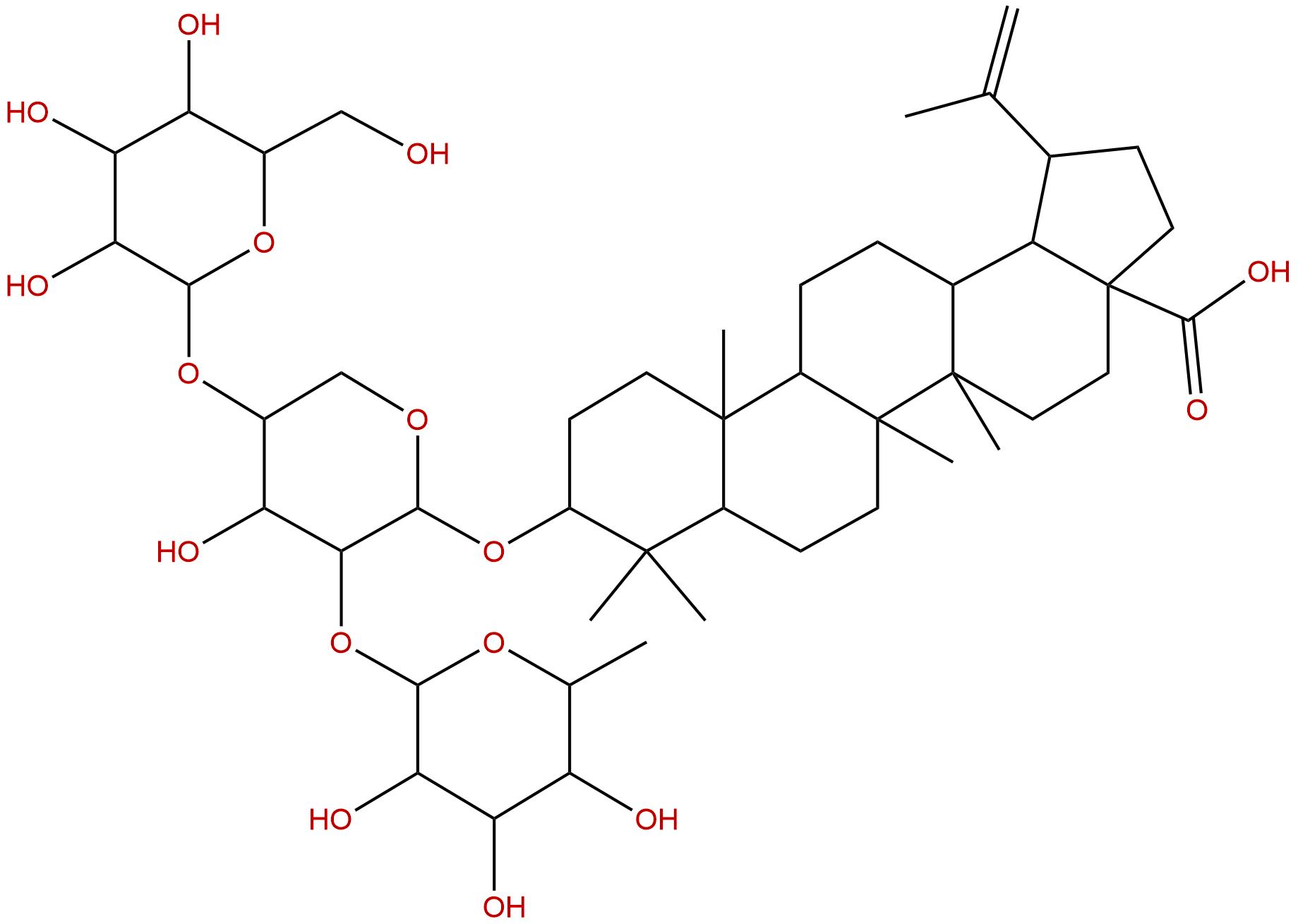 Betulinic acid 3beta-O-alpha-L-rhamnopyranosyl