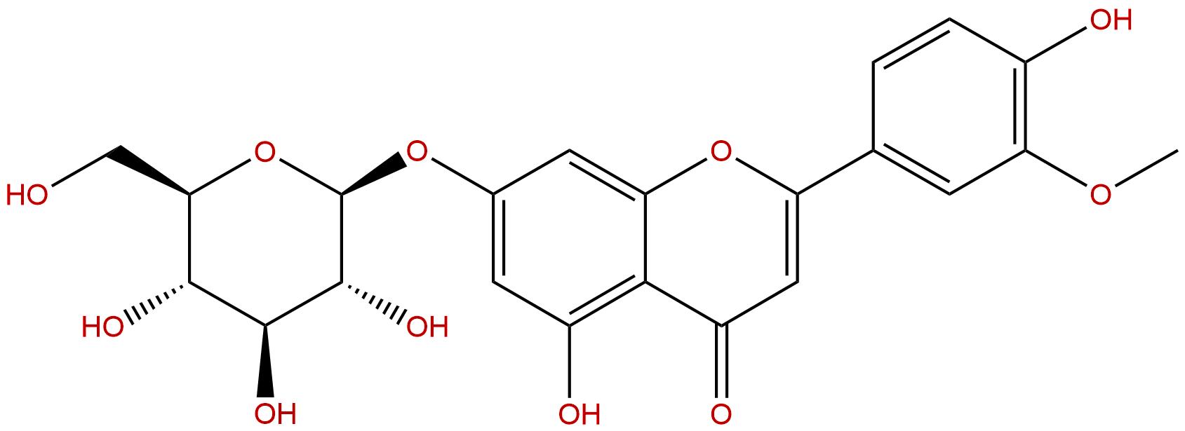 Chrysoeriol-7-O-beta-D-glucopyranoside