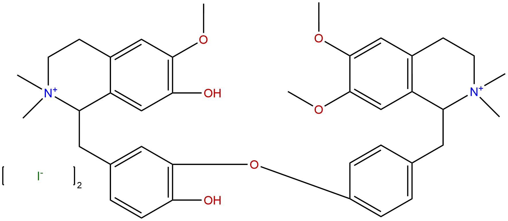 N,N'-dimethyldaurisoline iodide