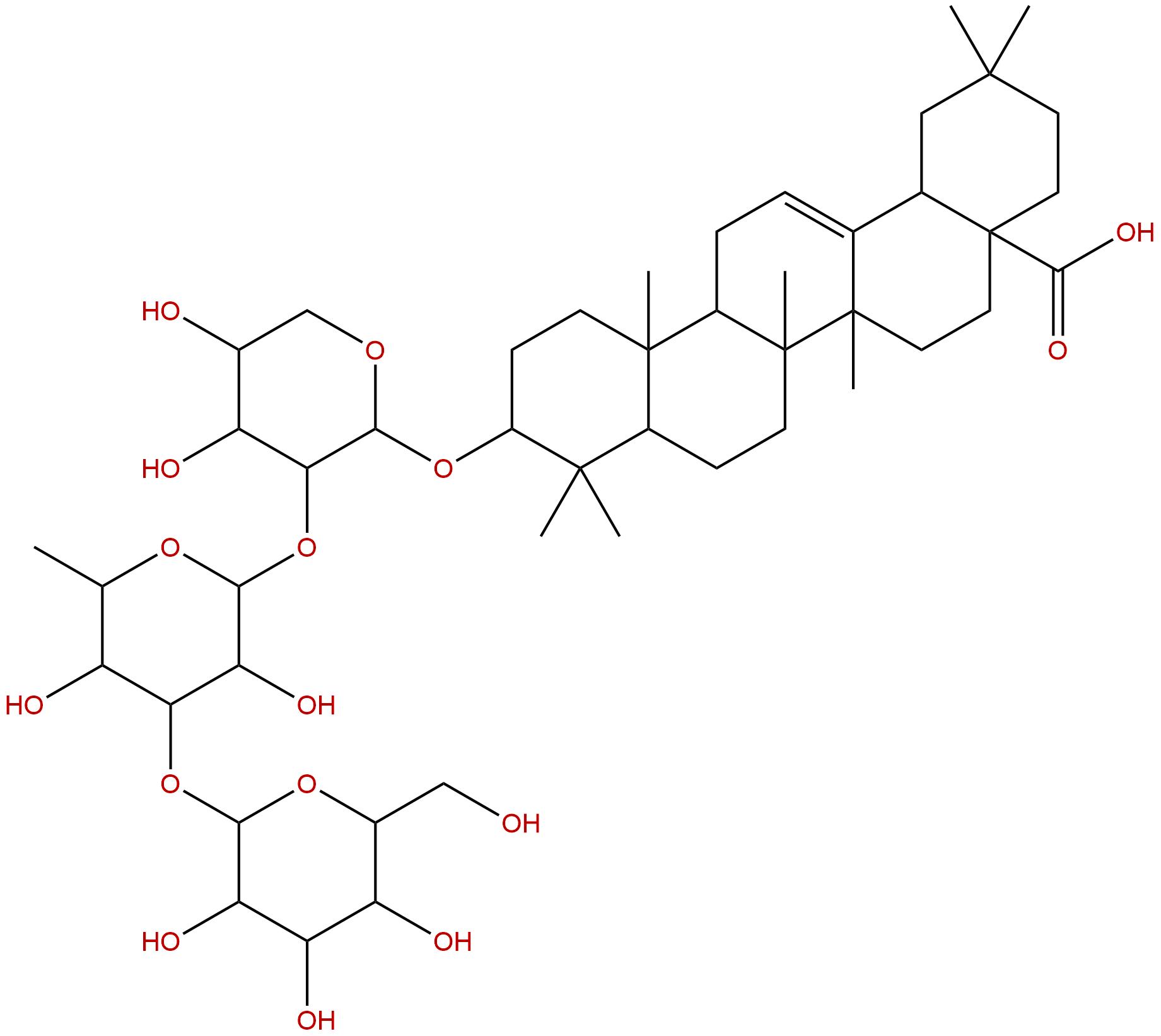 Oleanolic acid 3-O--D-glucosyl-( 13)--L-ramnosyl(12)--L-arabinoside