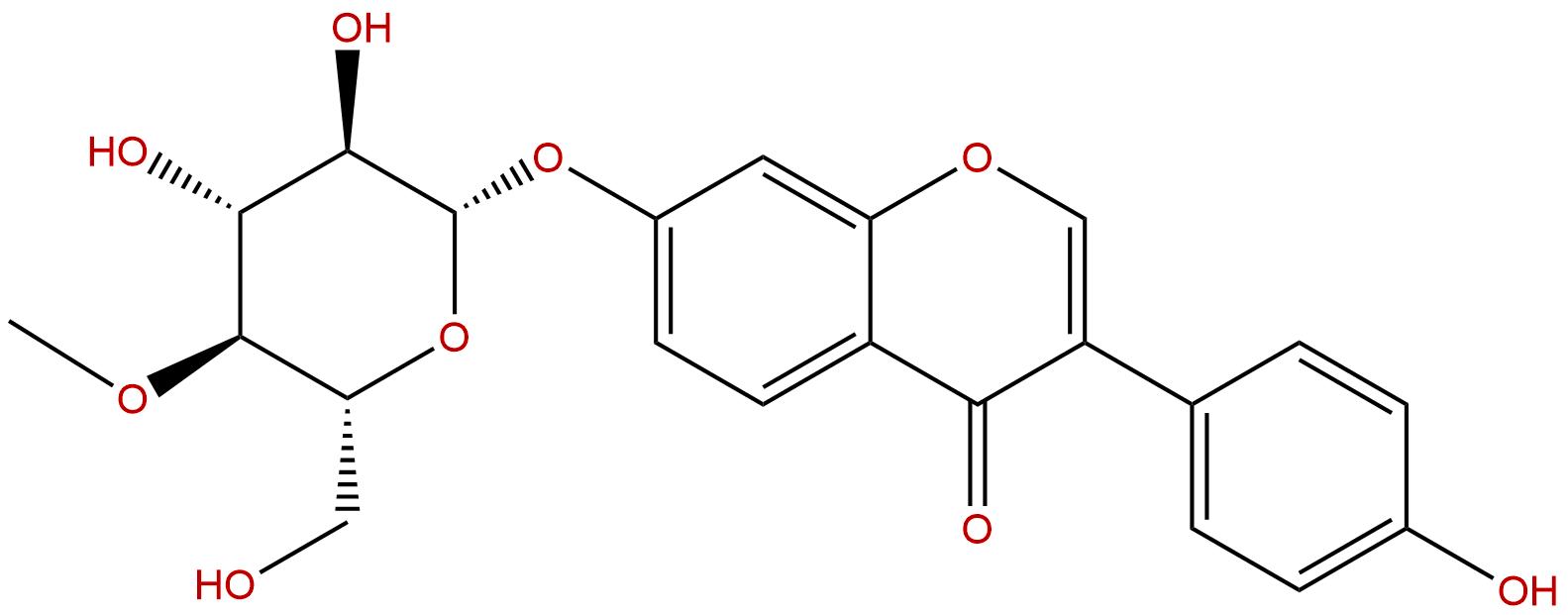 Daidzein 7-O-beta-D-glucoside 4''-O-methylate
