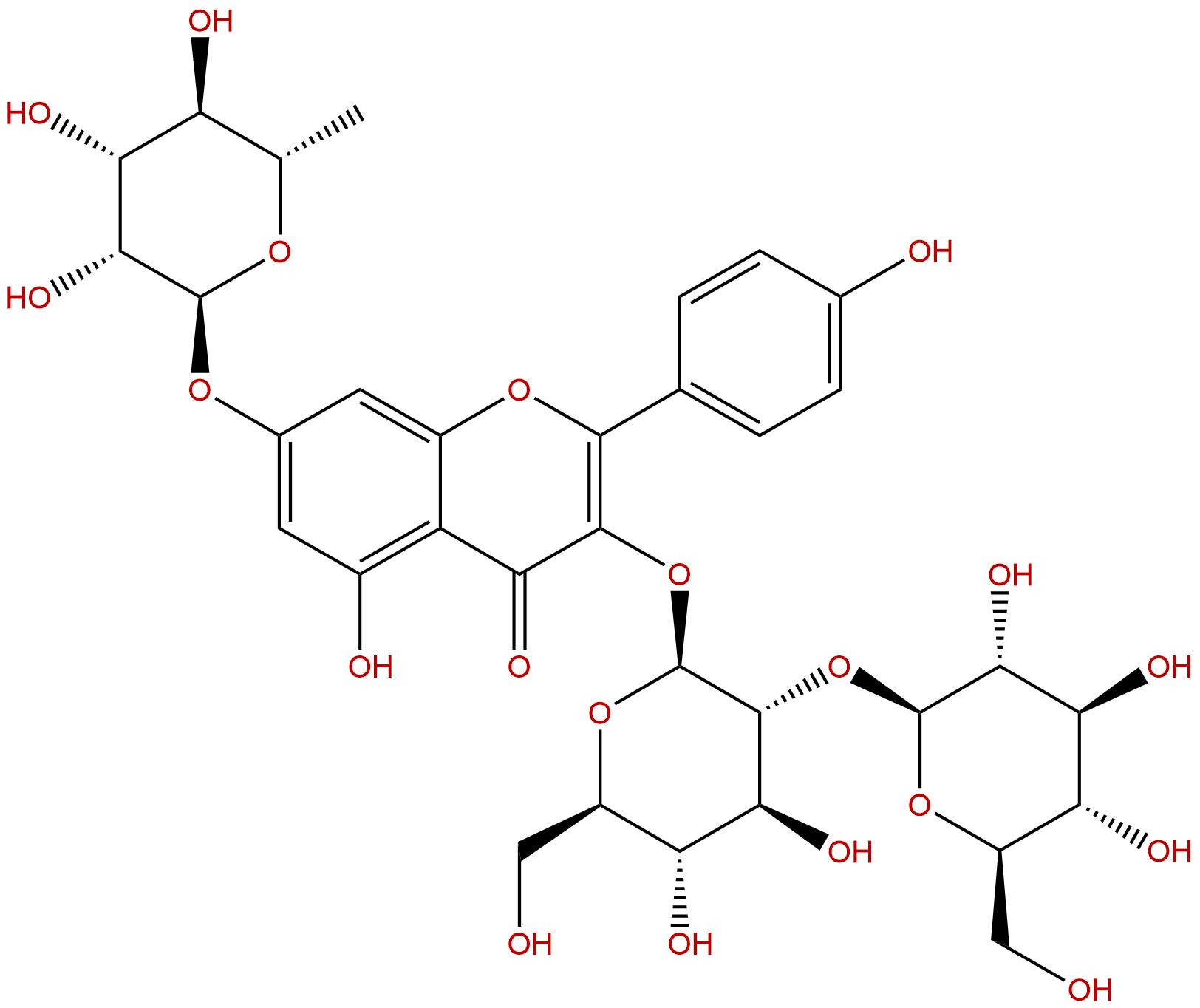 Kaempferol 3-sophoroside-7-rhamnoside