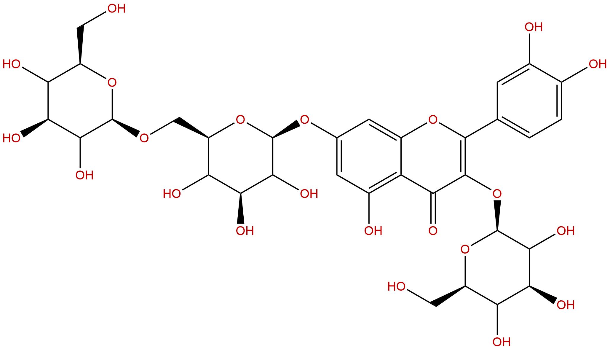 Quercetin 3-O--D-glucose-7-O--D-gentiobioside