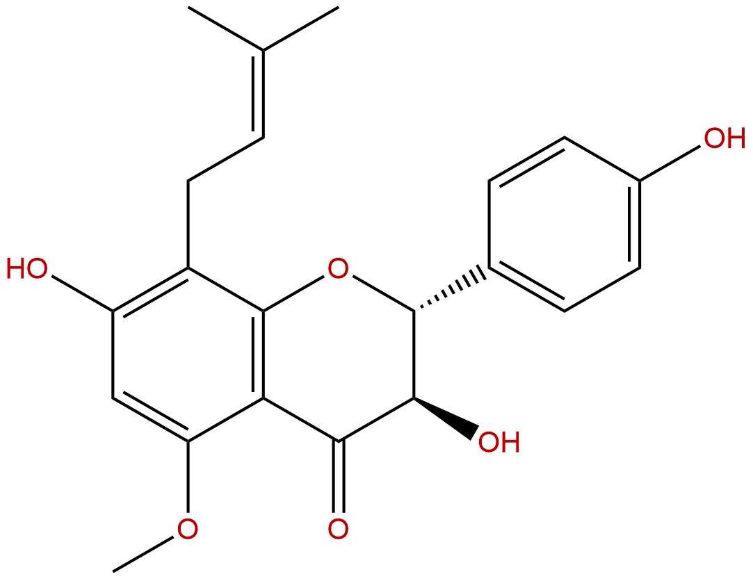 (2R,3R)-3,7,4'-Trihydroxy-5-methoxy-8-prenylflavanone
