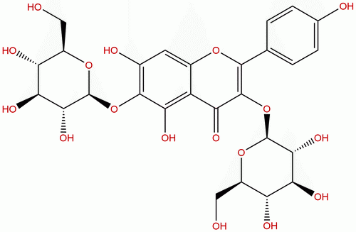6-Hydroxykaempferol 3,6-diglucoside