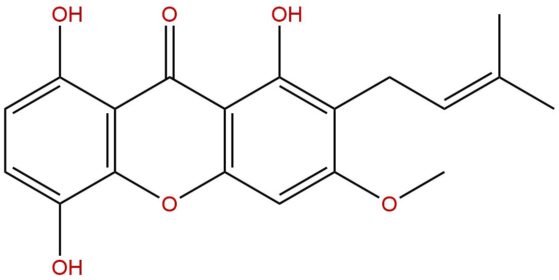 1,5,8-Trihydroxy-3-methoxy-2-prenylxanthone