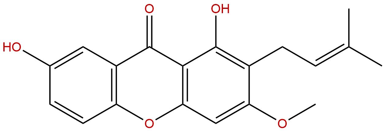 1,7-Dihydroxy-3-methoxy-2-prenylxanthone