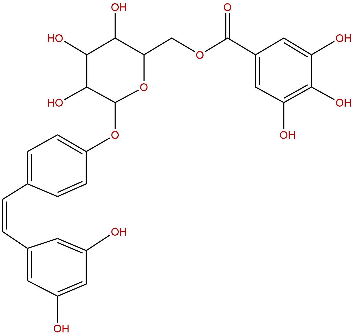 Resveratrol 4'-(6''-galloylglucoside)