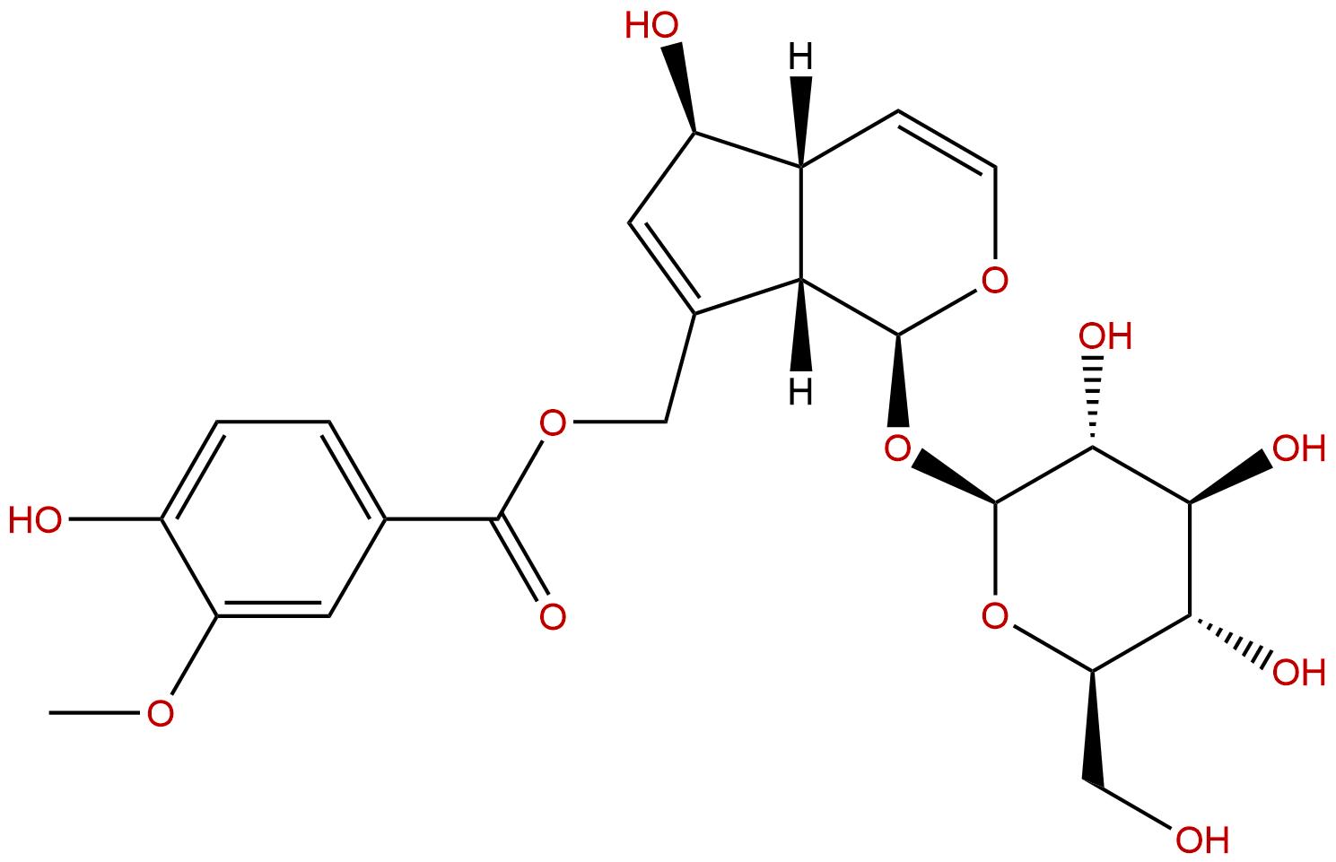 10-O-Vanilloylaucubin