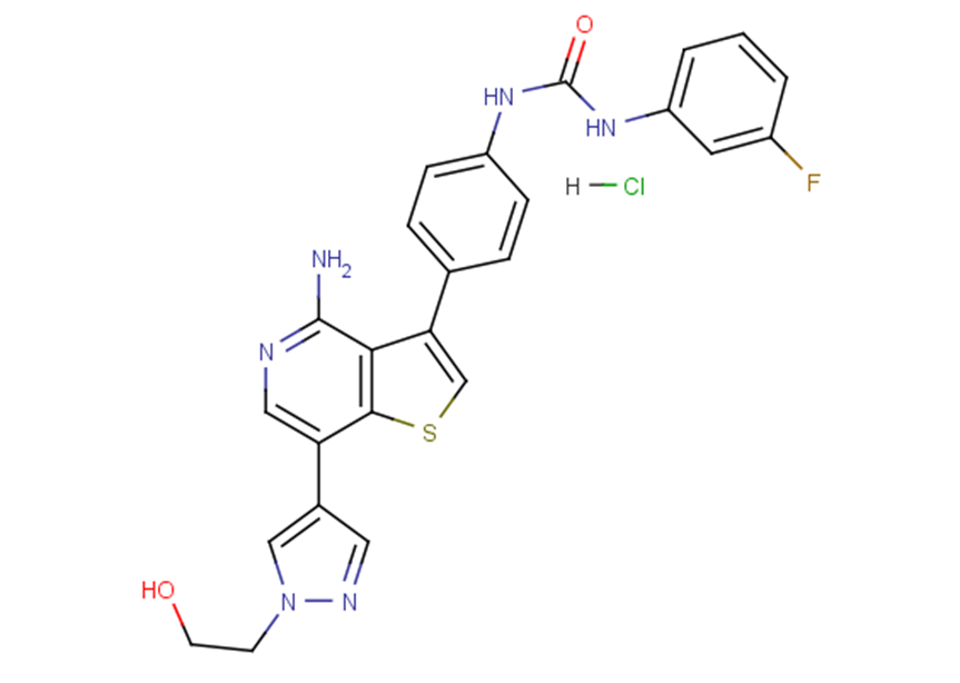 Ilorasertib hydrochloride