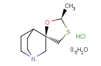 (-)-Cevimeline hydrochloride hemihydrate