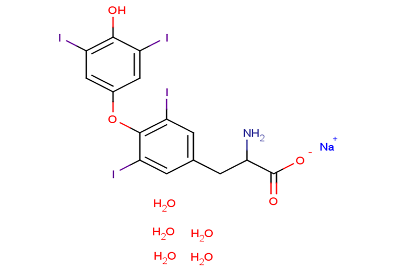 L-Thyroxine sodium salt pentahydrate